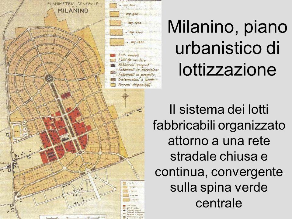 Milanino, piano urbanistico di lottizzazione
