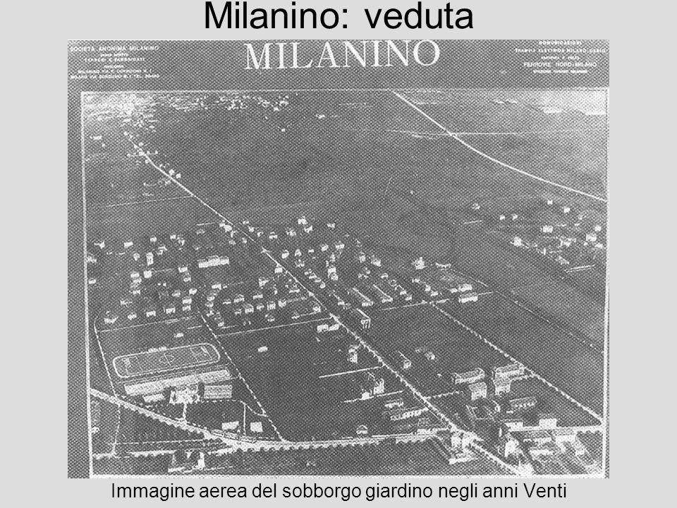Immagine aerea del sobborgo giardino negli anni Venti