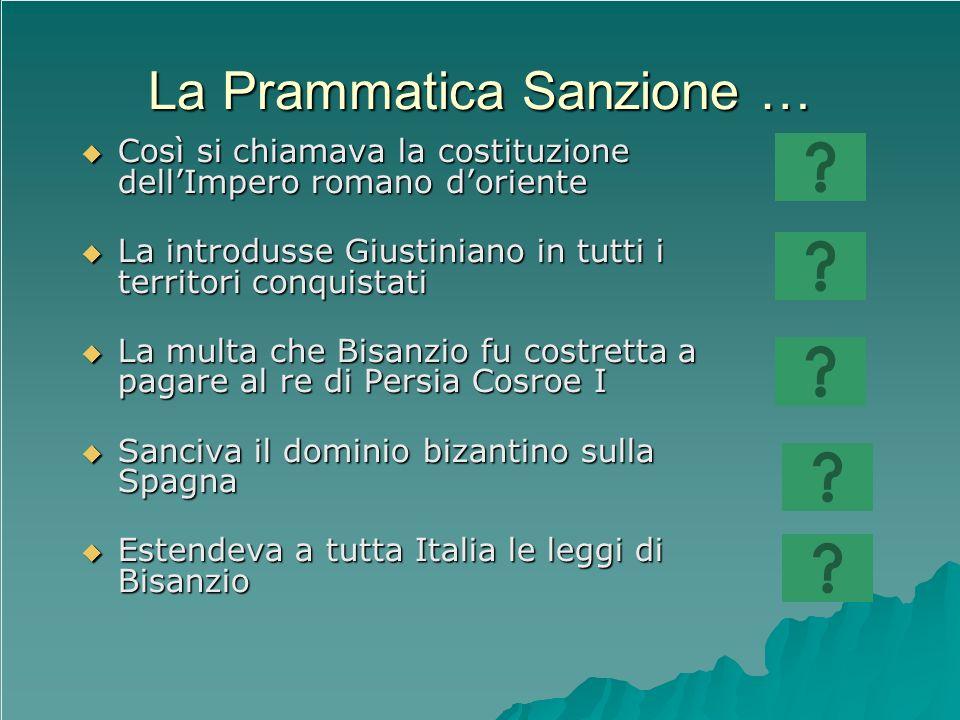 La Prammatica Sanzione …