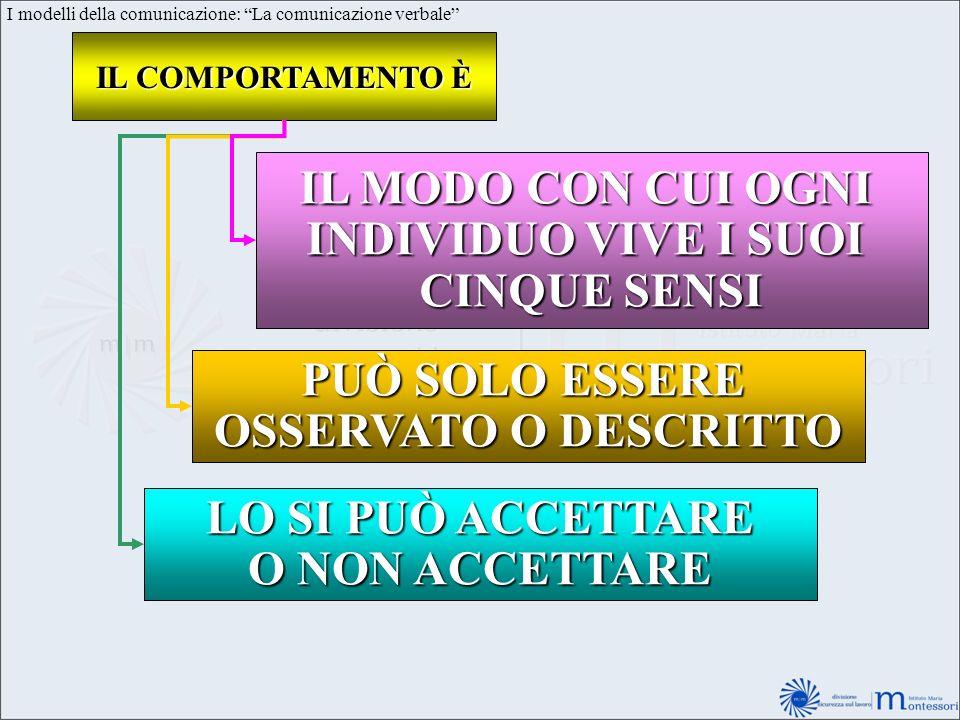 I modelli della comunicazione: La comunicazione verbale