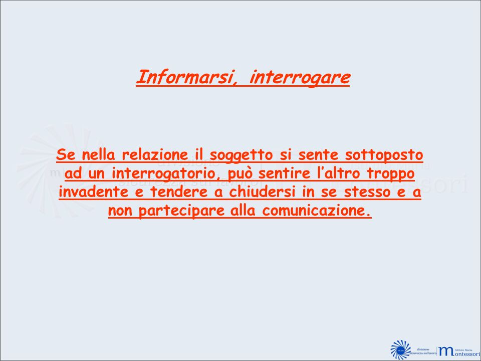 Informarsi, interrogare