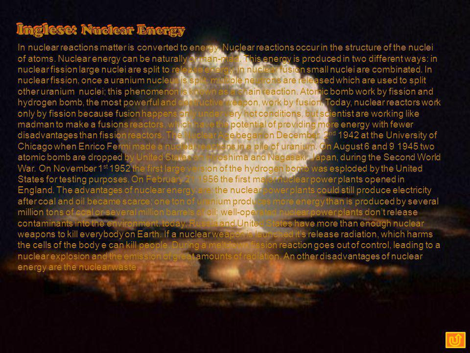 Inglese: Nuclear Energy