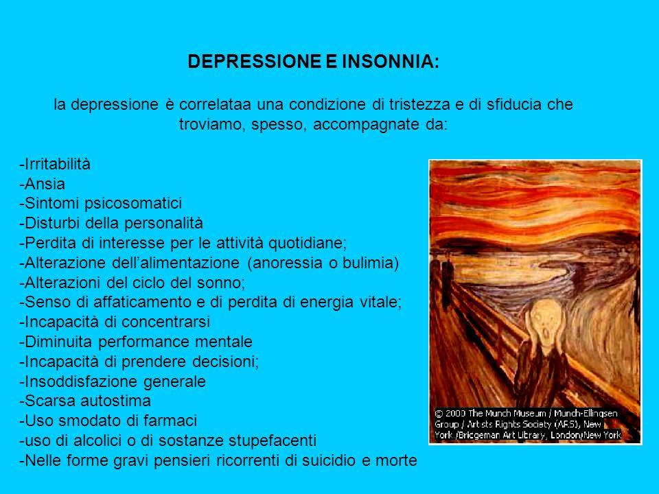 DEPRESSIONE E INSONNIA: