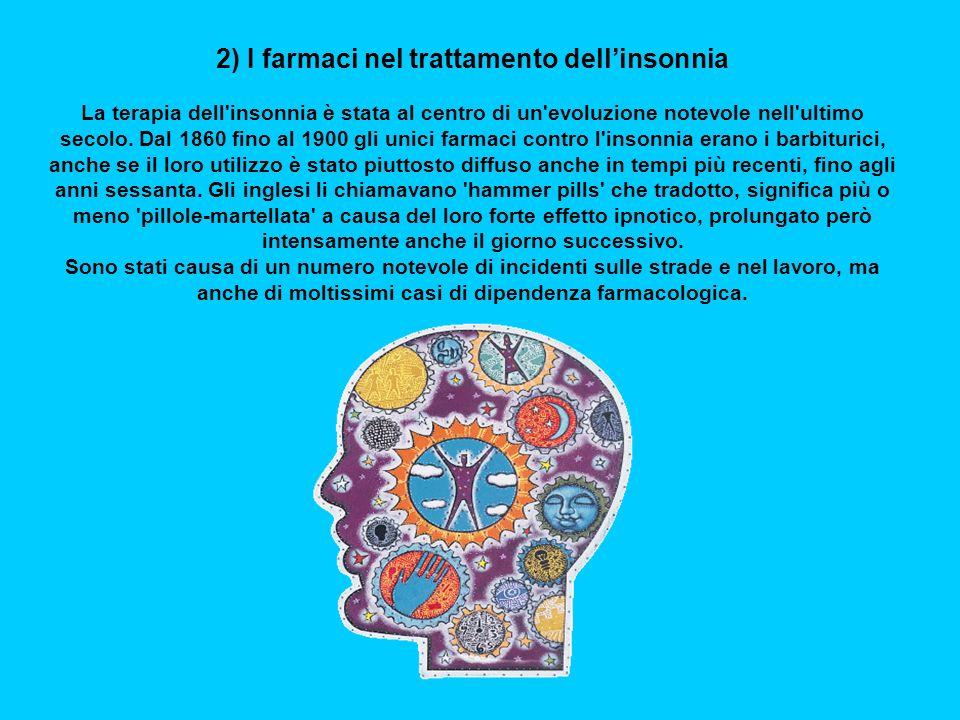 2) I farmaci nel trattamento dell'insonnia
