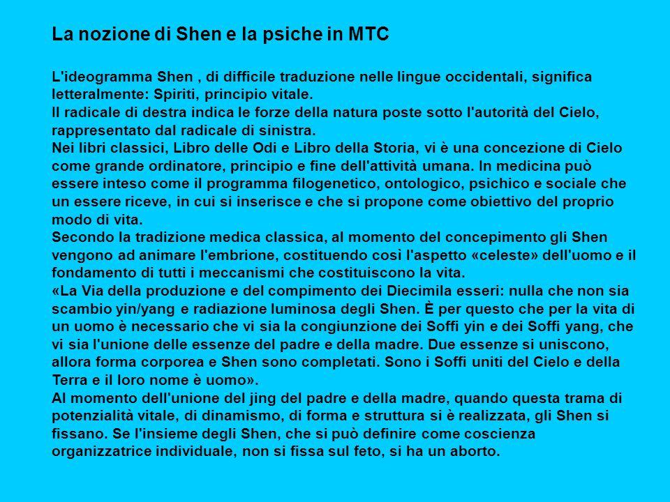 La nozione di Shen e la psiche in MTC