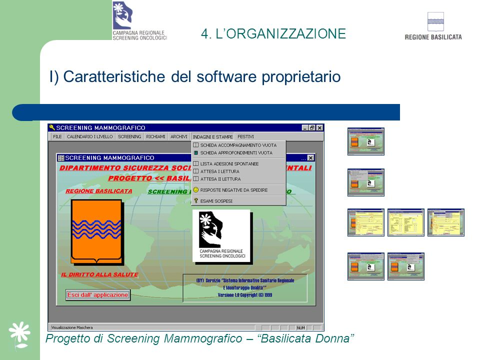 I) Caratteristiche del software proprietario