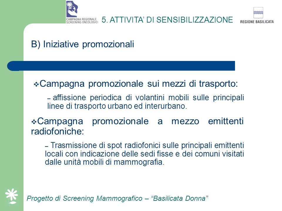 B) Iniziative promozionali