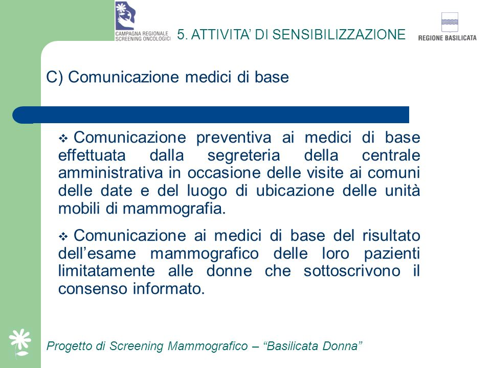 C) Comunicazione medici di base