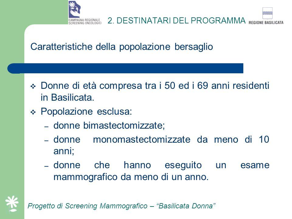 2. DESTINATARI DEL PROGRAMMA