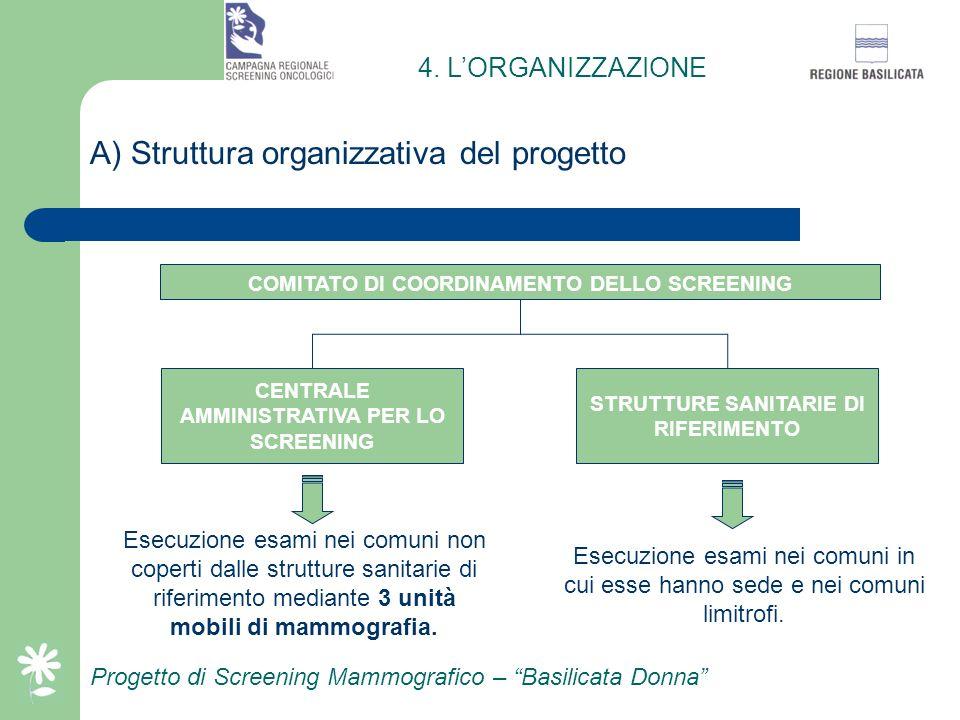 A) Struttura organizzativa del progetto
