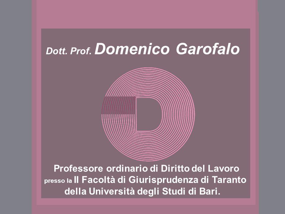Dott. Prof. Domenico Garofalo