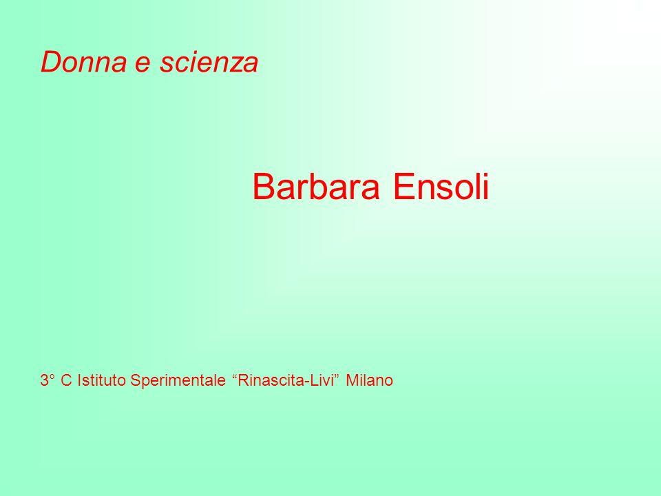Donna e scienza Barbara Ensoli