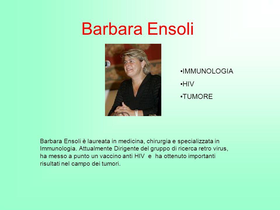 Barbara Ensoli IMMUNOLOGIA HIV TUMORE