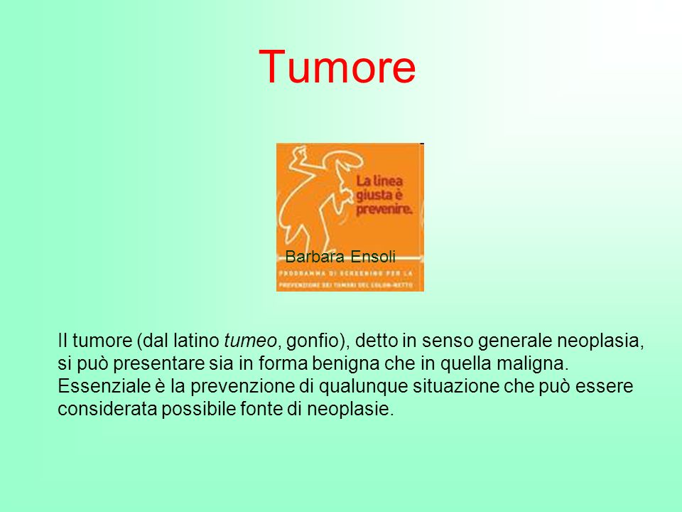 Tumore Barbara Ensoli.