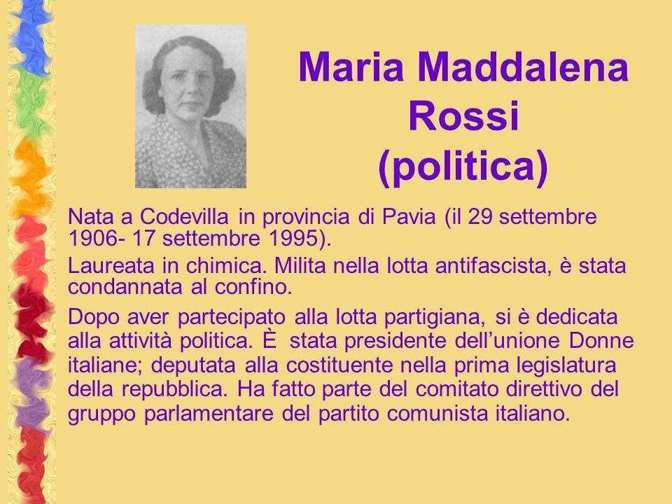 Maria Maddalena Rossi (politica)