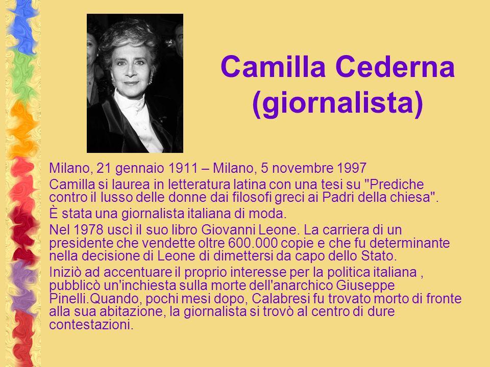 Camilla Cederna (giornalista)
