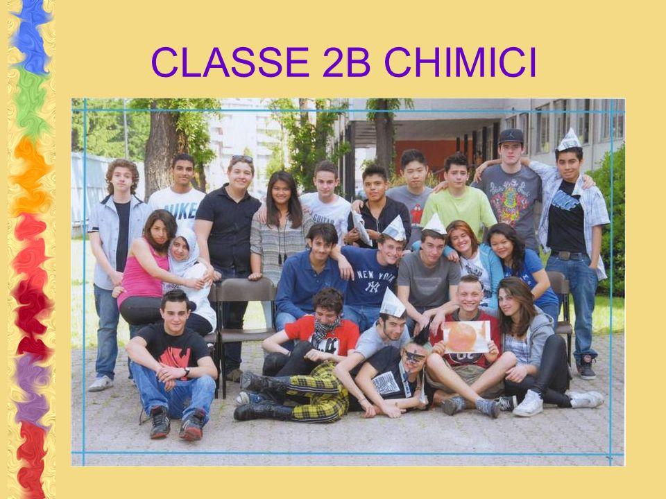 CLASSE 2B CHIMICI