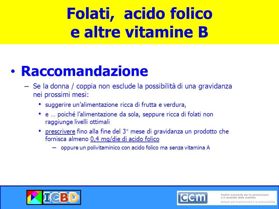 Folati, acido folico e altre vitamine B