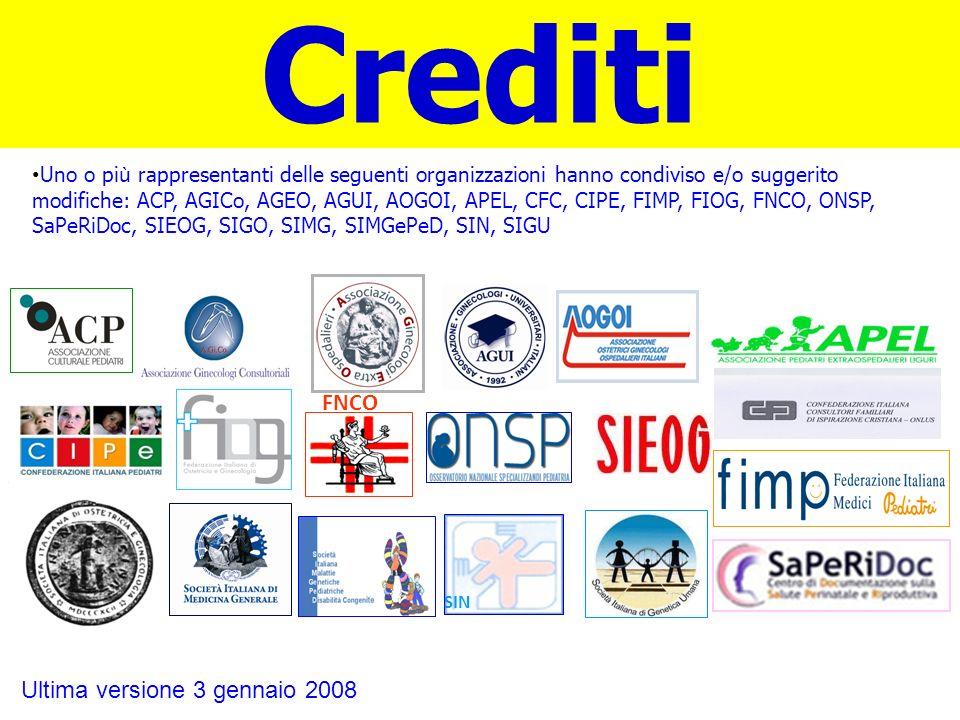 Crediti FNCO Ultima versione 3 gennaio 2008