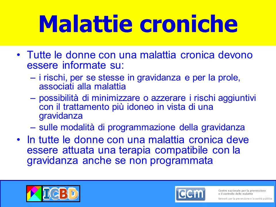 Malattie croniche Corso sul Counseling Preconcezionale. Pacchetto formativo completo.