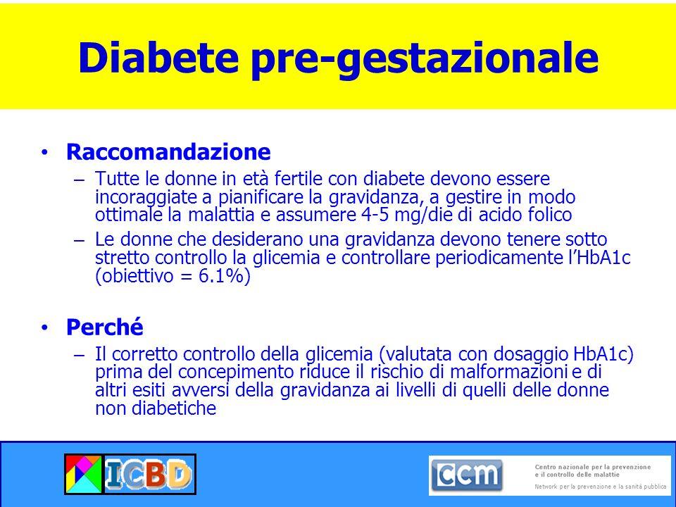 Diabete pre-gestazionale