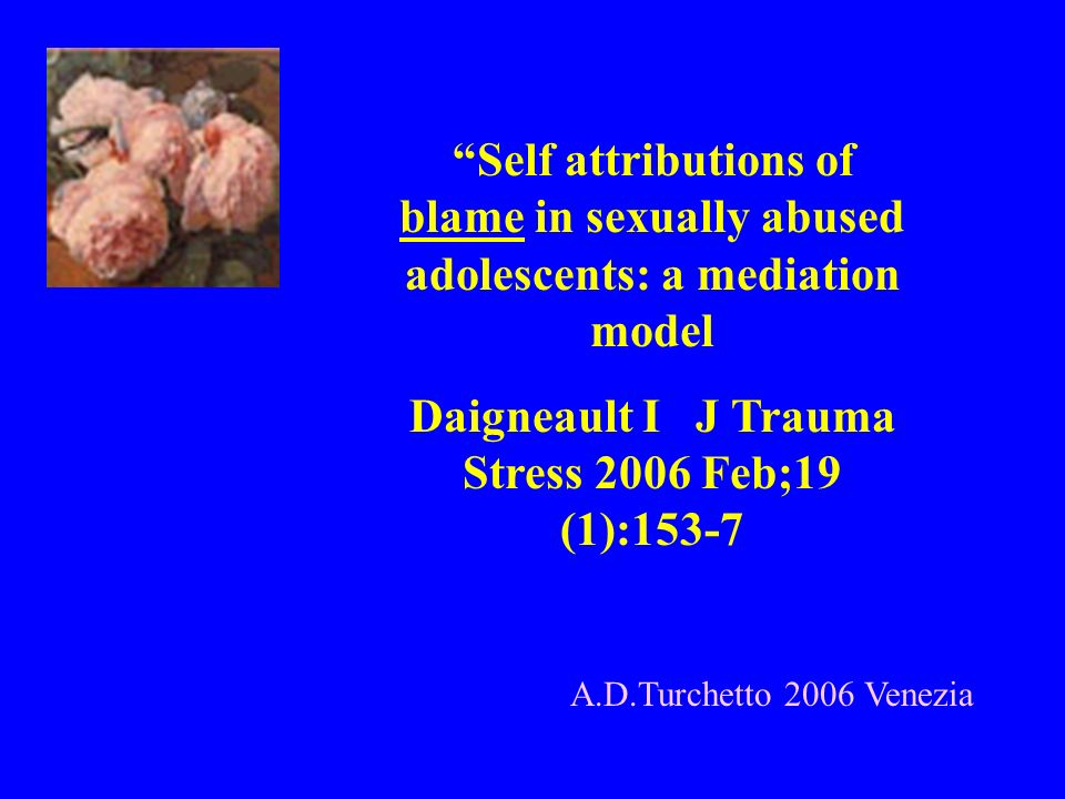 Daigneault I J Trauma Stress 2006 Feb;19 (1):153-7