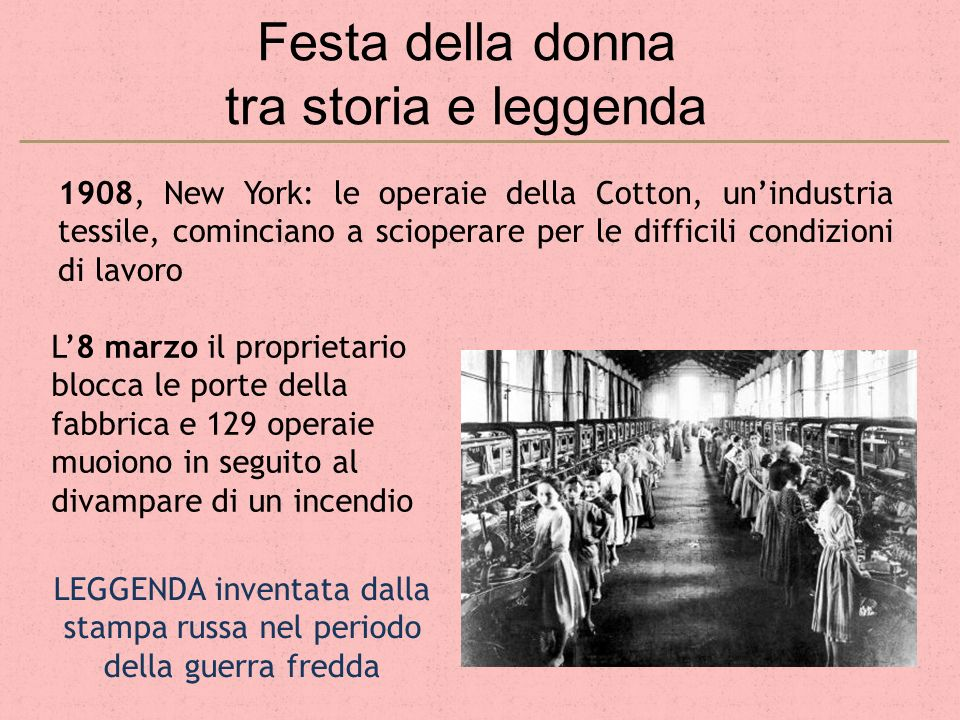 Festa della donna tra storia e leggenda