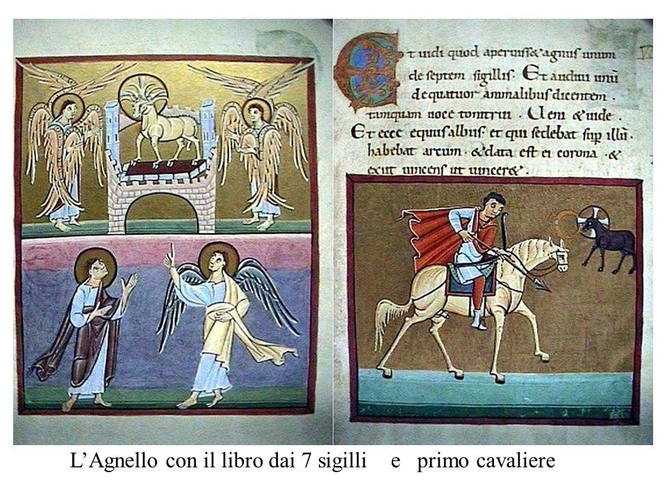 L'Agnello con il libro dai 7 sigilli e primo cavaliere