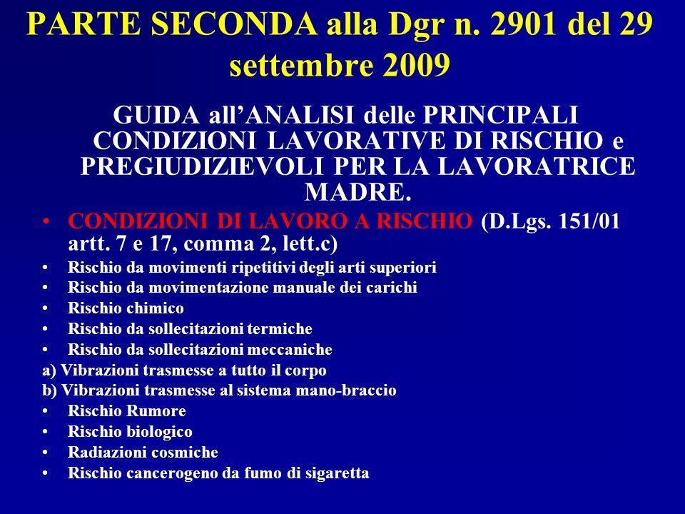 PARTE SECONDA alla Dgr n. 2901 del 29 settembre 2009