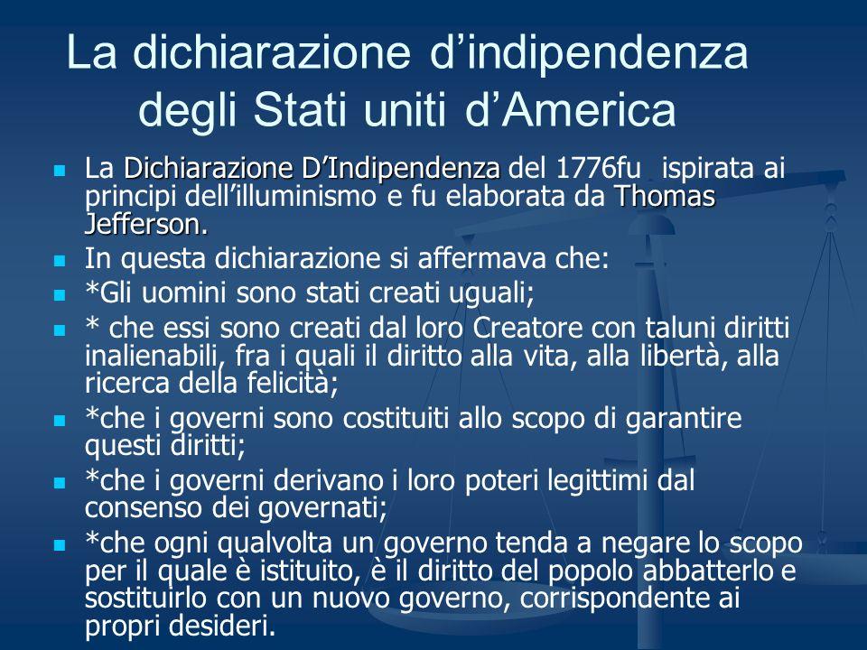 La dichiarazione d'indipendenza degli Stati uniti d'America