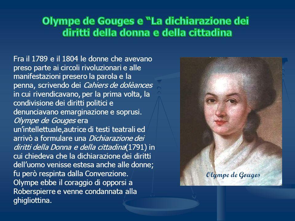 Olympe de Gouges e La dichiarazione dei