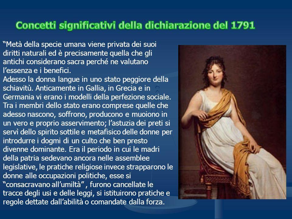 Concetti significativi della dichiarazione del 1791