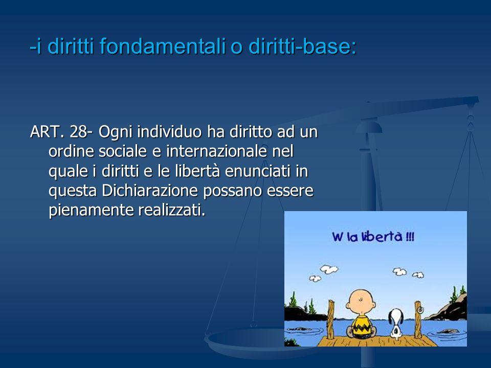 -i diritti fondamentali o diritti-base: