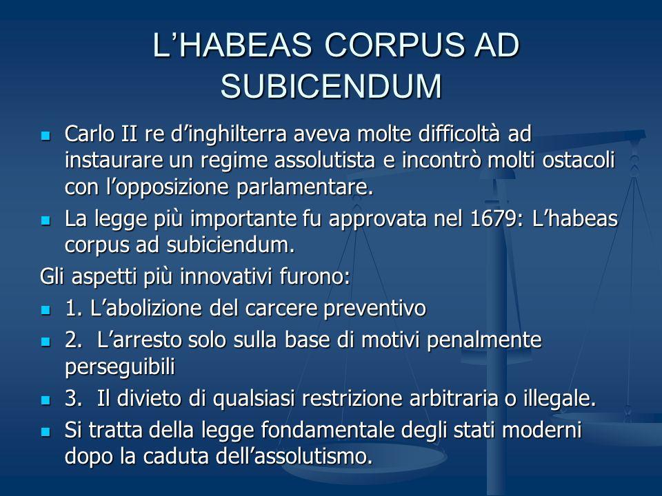 L'HABEAS CORPUS AD SUBICENDUM
