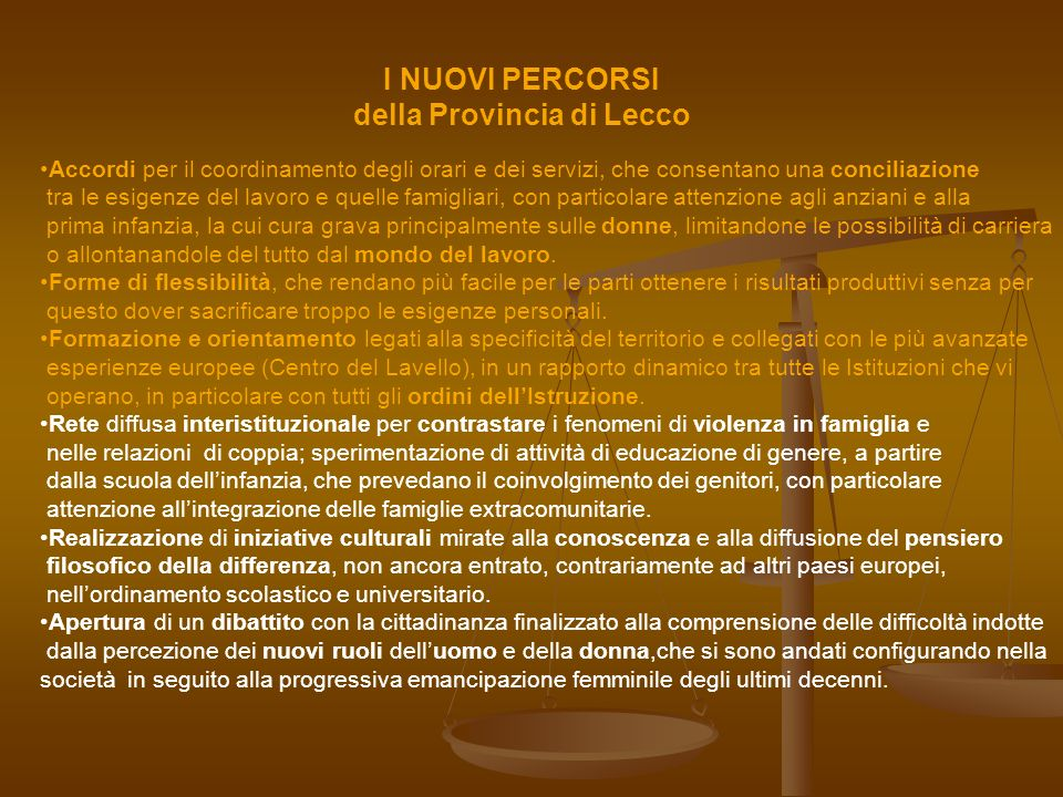 della Provincia di Lecco