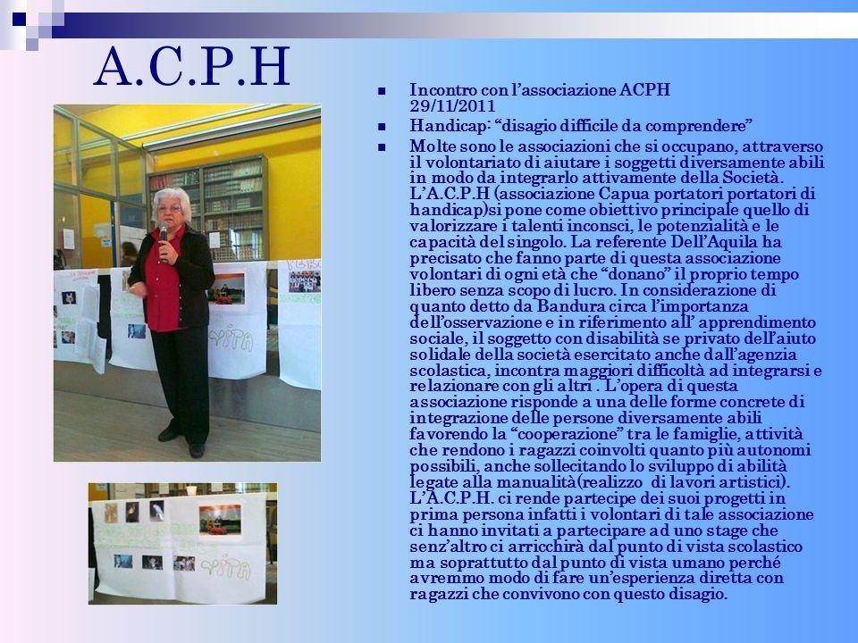 A.C.P.H Incontro con l'associazione ACPH 29/11/2011