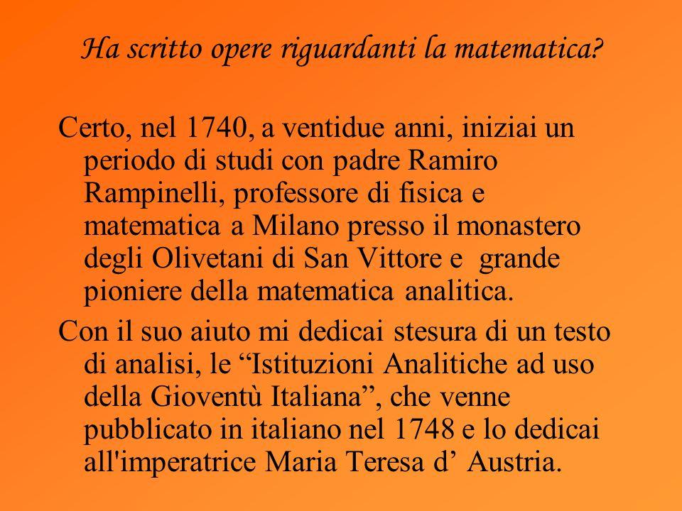Ha scritto opere riguardanti la matematica