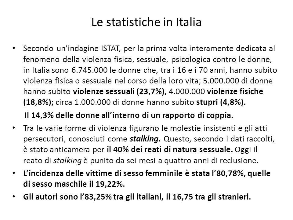 Le statistiche in Italia
