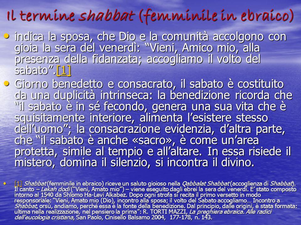 Il termine shabbat (femminile in ebraico)