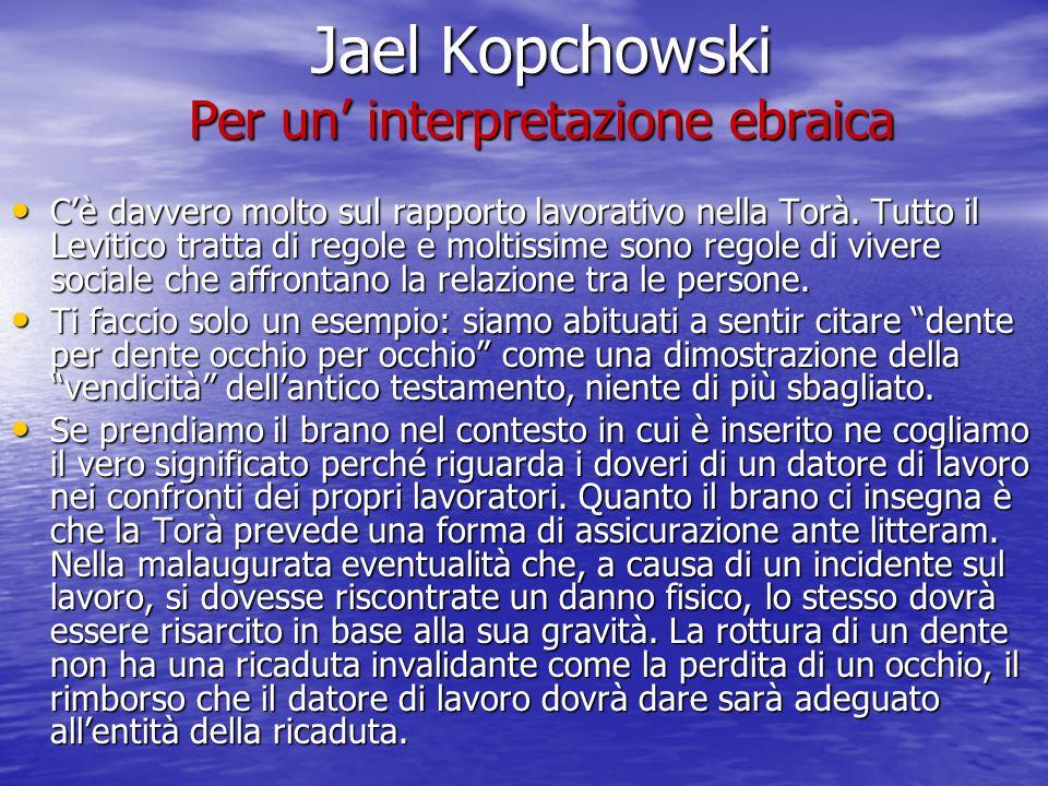 Jael Kopchowski Per un' interpretazione ebraica