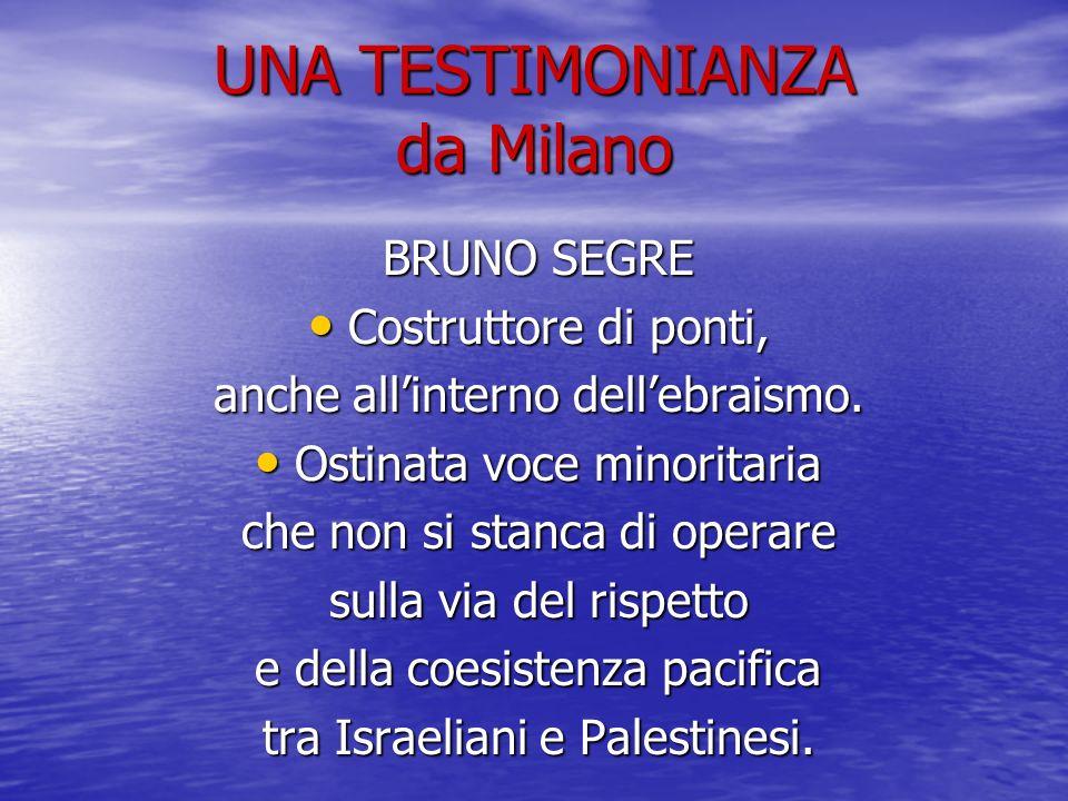 UNA TESTIMONIANZA da Milano