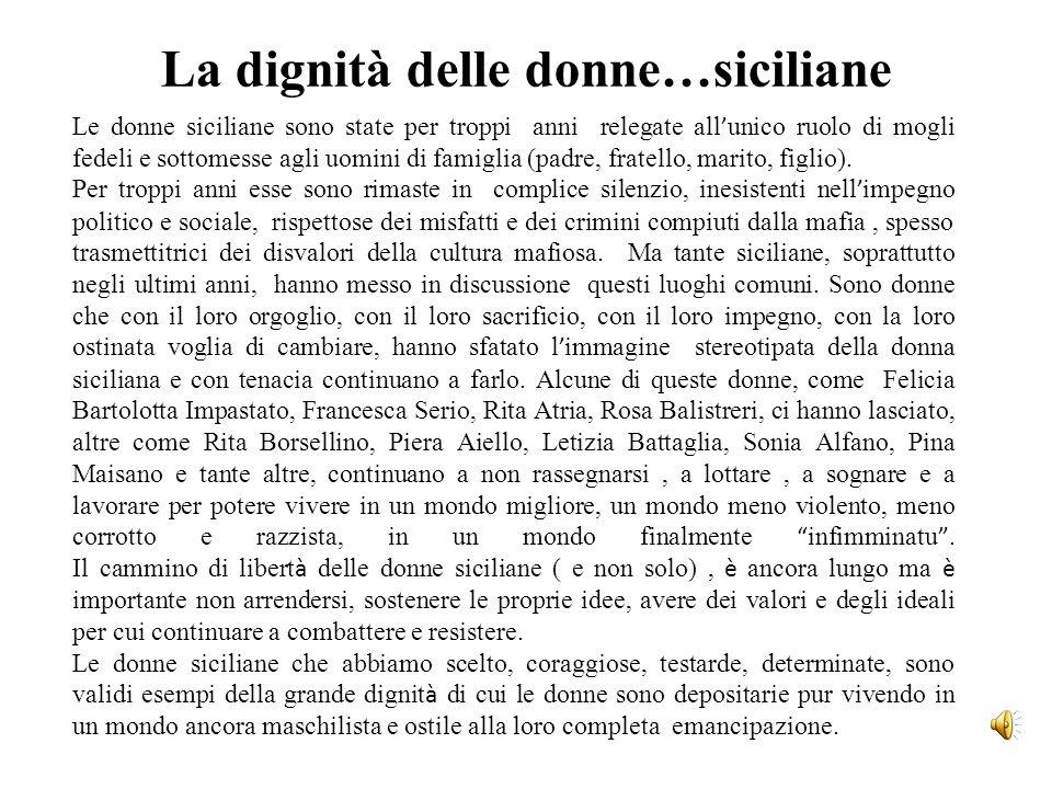 La dignità delle donne…siciliane