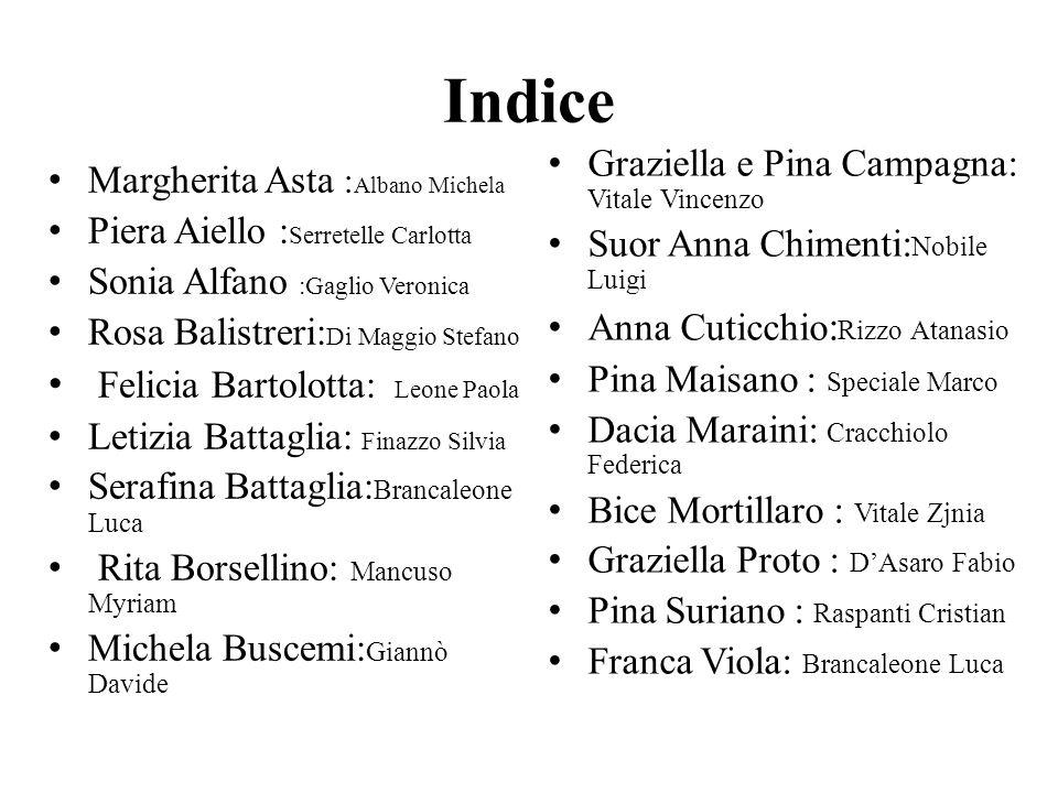 Indice Felicia Bartolotta: Leone Paola