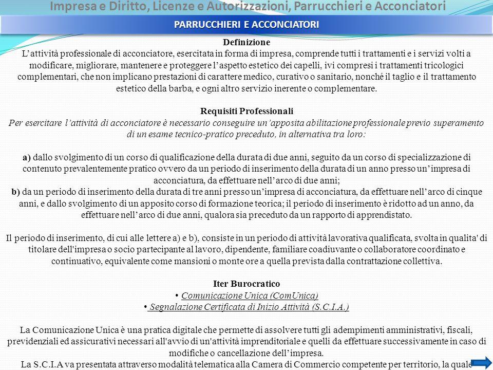 PARRUCCHIERI E ACCONCIATORI