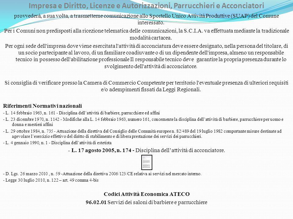 Impresa e Diritto, Licenze e Autorizzazioni, Parrucchieri e Acconciatori