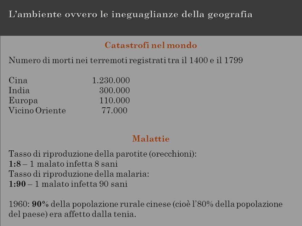 L'ambiente ovvero le ineguaglianze della geografia