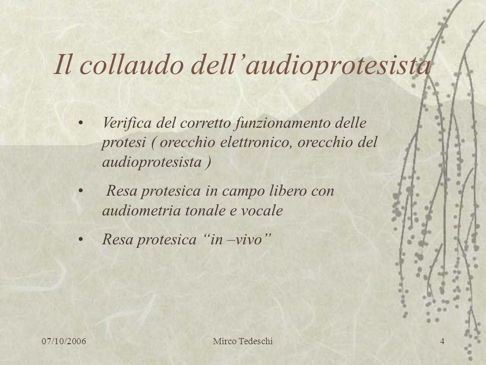 Il collaudo dell'audioprotesista