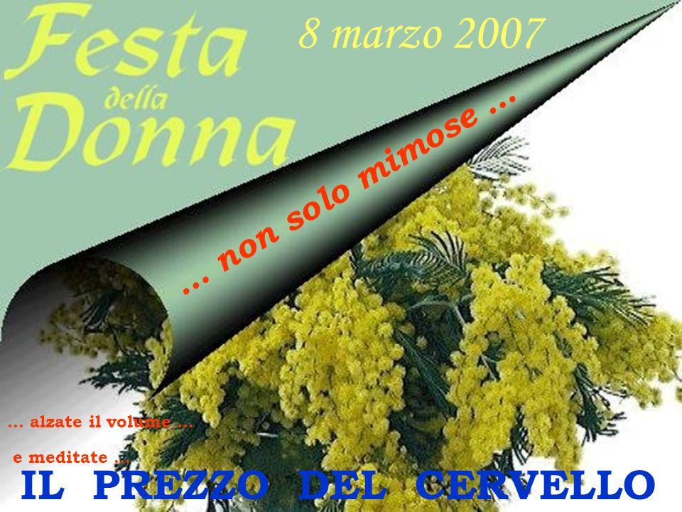 8 marzo 2007 IL PREZZO DEL CERVELLO … non solo mimose …