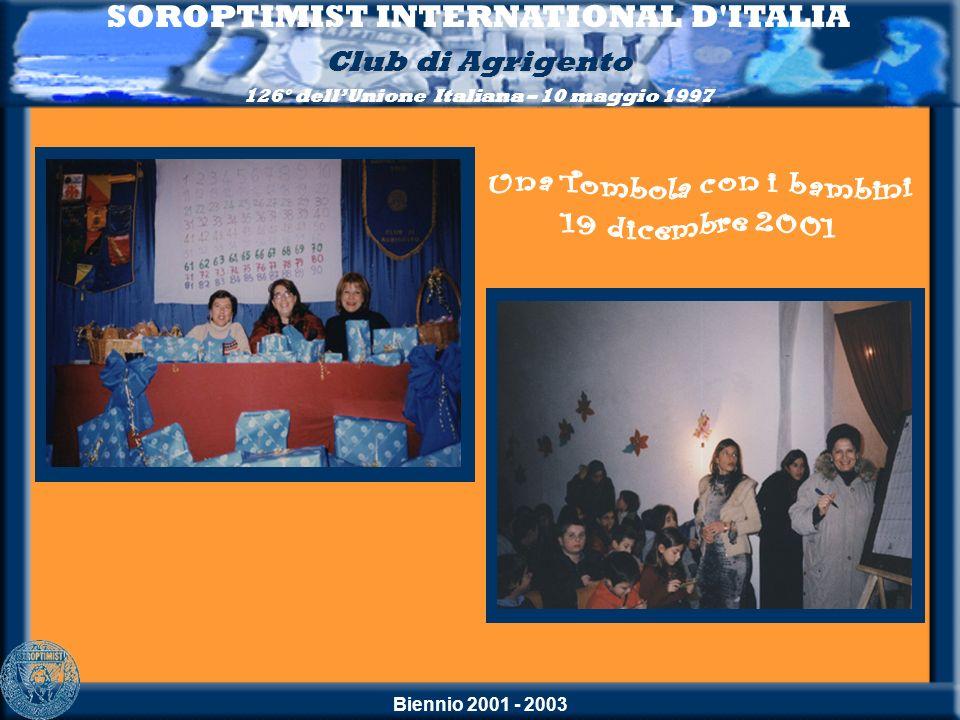 SOROPTIMIST INTERNATIONAL D ITALIA Una Tombola con i bambini