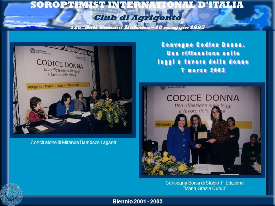 SOROPTIMIST INTERNATIONAL D ITALIA leggi a favore delle donne